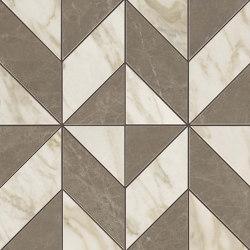 MARVEL Gris-Calacatta Mosaico Cubes Lappato | Mosaicos de cerámica | Atlas Concorde