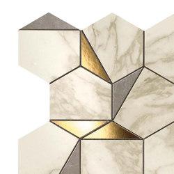 Marvel Gold Hex Gris-Calacatta | Ceramic mosaics | Atlas Concorde