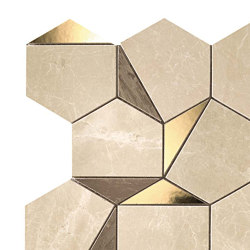 MARVEL Gold Hex Sable-Brown | Mosaici ceramica | Atlas Concorde