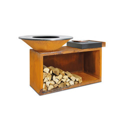 OFYR Island 100 Ceramic Dark | Fireplace accessories | OFYR