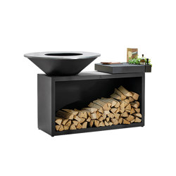 OFYR Island Black 100 Ceramic Dark | Fireplace accessories | OFYR