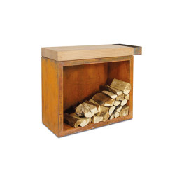 Butcher Block Storage 45-90-88 | Fireplace accessories | OFYR