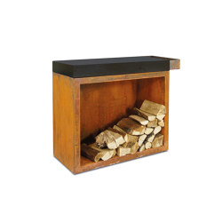 Butcher Block Storage 45-90-88 Ceramic Dark | Fireplace accessories | OFYR