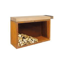 Butcher Block Storage 45-135-88 | Fireplace accessories | OFYR