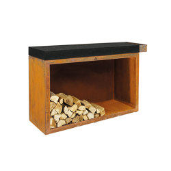 Butcher Block Storage 45-135-88 Ceramic Dark | Fireplace accessories | OFYR