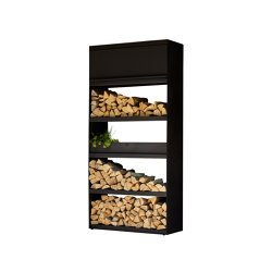 Wood Storage Black 100 | Fireplace accessories | OFYR