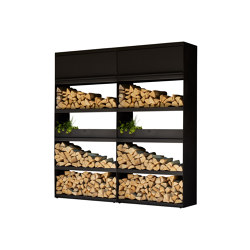 Wood Storage Black 200 | Fireplace accessories | OFYR