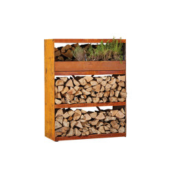Wood Storage Cabinet | Fireplace accessories | OFYR