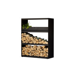 Wood Storage Cabinet Black | Fireplace accessories | OFYR