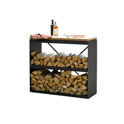 Wood Storage Dressoir Black | Fireplace accessories | OFYR