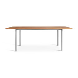 Tubby Tube Table | Oregon pine with anodized aluminum frame | Dining tables | Please Wait to be Seated