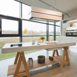dade WERKKÜCHE concrete kitchen | Island kitchens | Dade Design AG concrete works Beton
