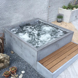dade HOTSTONE concrete whirlpool | Outdoor whirlpools | Dade Design AG concrete works Beton