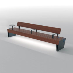 blocq | Park bench with armrest | Benches | mmcité