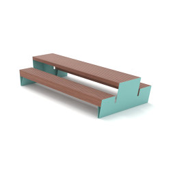 blocq | Park bench picnic set | Table-seat combinations | mmcité