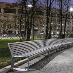 portiqoa | curved Park bench with backrest | Benches | mmcité