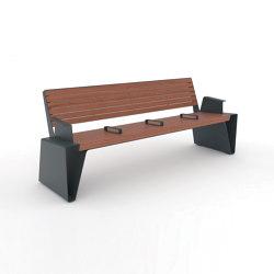 radium | Park bench with armrest | Benches | mmcité