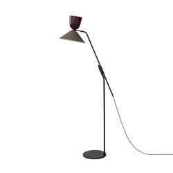 Alphabeta Floor Lamp (EU/UK Plug) Black Red / Beige Grey | Standleuchten | Hem Design Studio