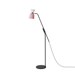 Alphabeta Floor Lamp (EU/UK Plug) White / Light Pink | Standleuchten | Hem Design Studio