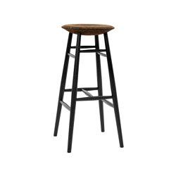 Drifted Bar Stool Dark Cork/Black | Taburetes de bar | Hem Design Studio