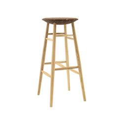 Drifted Bar Stool Dark Cork/Oak | Bar stools | Hem Design Studio