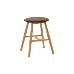 Drifted Stool Dark Cork/Oak | Stools | Hem Design Studio