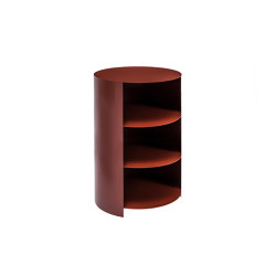 Hide Pedestal Rust Red | Mesillas de noche | Hem Design Studio