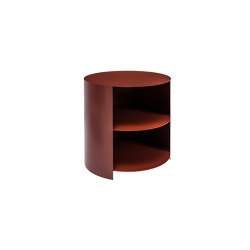 Hide Side Table Rust Red | Mesillas de noche | Hem Design Studio