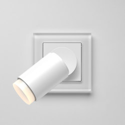 Plug & Light  | A Creation LED Spotlight white glass | Wall lights | JUNG