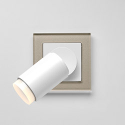 Plug & Light  | A Creation LED Spotlight champagne glass | Lámparas de pared | JUNG