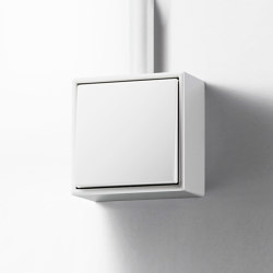 LS CUBE switch white | Two-way switches | JUNG