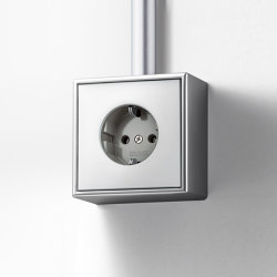 LS Cube | socket aluminium | Two-way switches | JUNG