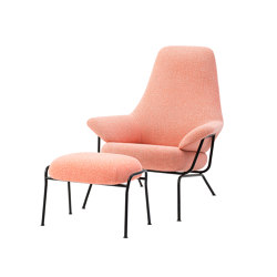 Hai Chair Melange Coral + Ottoman | Armchairs | Hem Design Studio