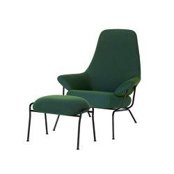 Hai Chair Peacock + Ottoman | Armchairs | Hem Design Studio