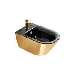 Bidet Soft 55x35 Gold Black | Bidets | Ceramica Catalano