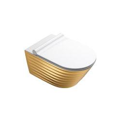Classy Wc Newflush 55x35 Gold White | Inodoros | Ceramica Catalano