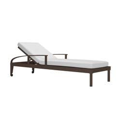 QUADRATL CHAISE LOUNGE WITH ARMS | Sun loungers | JANUS et Cie