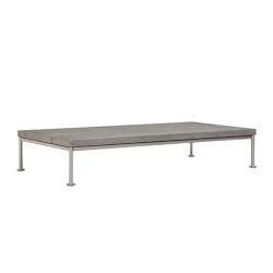 GINA OTTOMAN / COCKTAIL TABLE RECTANGLE 140 | Tavolini bassi | JANUS et Cie