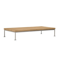 GINA OTTOMAN / COCKTAIL TABLE RECTANGLE 140 | Mesas de centro | JANUS et Cie