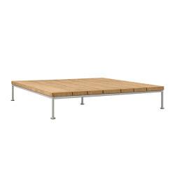 GINA OTTOMAN / COCKTAIL TABLE SQUARE 140 | Tavolini bassi | JANUS et Cie