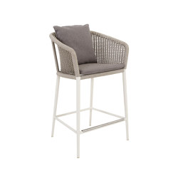 KNOT COUNTER STOOL WITH ARMS   Bar stools   JANUS et Cie