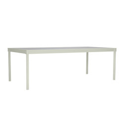 QUADRATL GLASS TOP DINING TABLE RECTANGLE 226 | Dining tables | JANUS et Cie