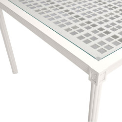 QUADRATL GLASS TOP DINING TABLE RECTANGLE 278   Dining tables   JANUS et Cie