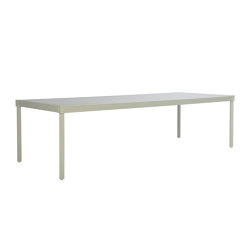 QUADRATL GLASS TOP DINING TABLE RECTANGLE 278 | Dining tables | JANUS et Cie
