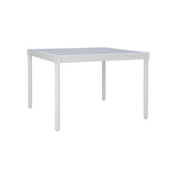 QUADRATL GLASS TOP DINING TABLE SQUARE 110 | Dining tables | JANUS et Cie