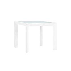 TRIG GLASS TOP SIDE TABLE SQUARE 48 | Tables d'appoint | JANUS et Cie