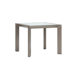 TRIG GLASS TOP SIDE TABLE SQUARE 48 | Tavolini alti | JANUS et Cie