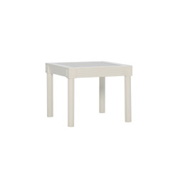 QUADRATL GLASS TOP SIDE TABLE RECTANGLE 56 | Side tables | JANUS et Cie