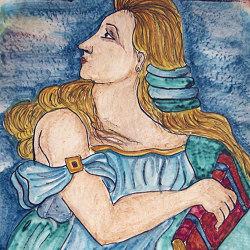Medioevo | Decori Affreschi 10 | Baldosas de cerámica | Cotto Etrusco