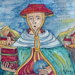 Medioevo | Decori Affreschi 19 | Carrelage céramique | Cotto Etrusco